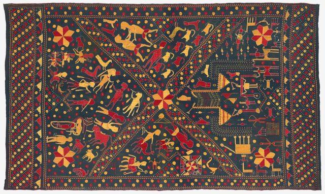 , 'Sainchi Phulkari/Nilak Phulkari,' ca. 20, Philadelphia Museum of Art