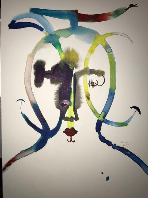 Wole Lagunju, 'Masker II', 2017, Ed Cross Fine Art
