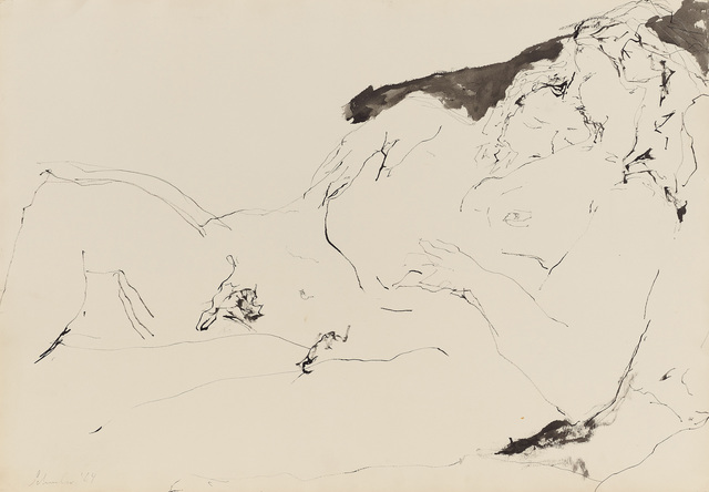 , 'Untitled Reclining Couple #7 (dr. 64-32),' 1964, Berry Campbell Gallery
