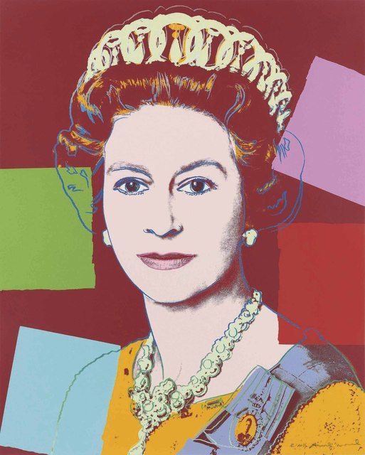 Andy Warhol, 'Queen Elizabeth II, from: Reigning Queens (Royal Edition)', 1985, Print, Screenprint in colours with diamond dust on Lenox Museum Board, Christie's