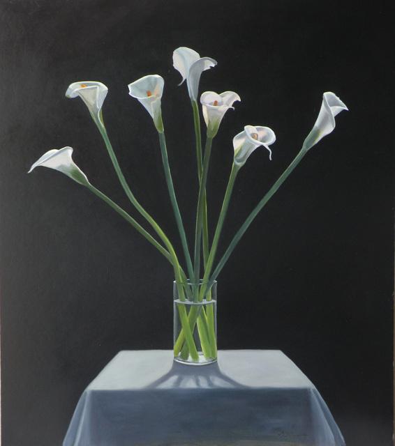 Neil Christensen, 'Backlit Callas', 2011, Painting, Oil on board, Kiechel Fine Art