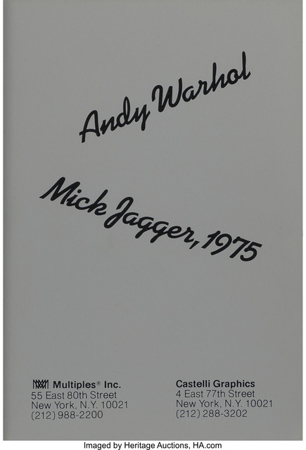 Andy Warhol, 'Mick Jagger Announcement Cards (Full Set of 10)', 1975, Print, Offset lithographs in colors on paper, Heritage Auctions