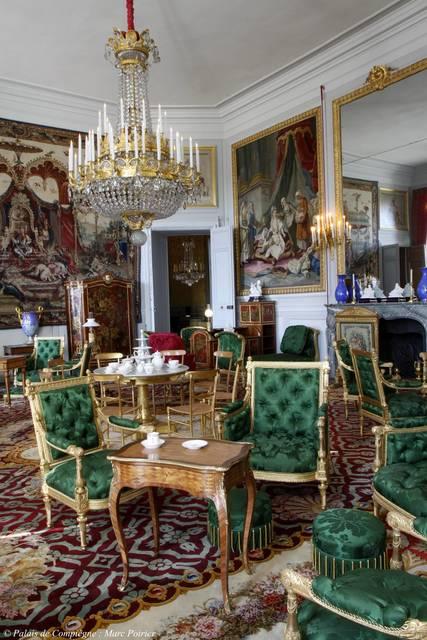 'Salon de thé de l'Impératrice (The Empress' tea room)', Musées et domaine nationaux du palais de Compiègne