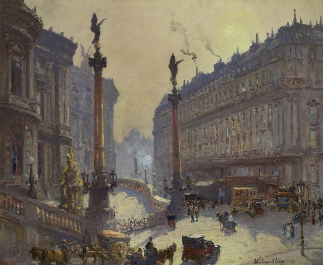 , 'Place de l'Opera, Paris,' ca. 1906-1911, Debra Force Fine Art
