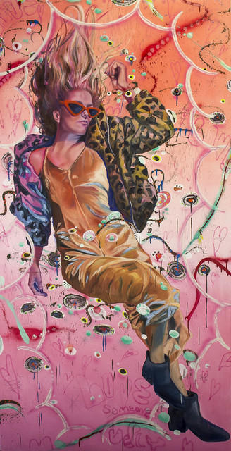 "Ali Futrell, 'Fallin' High (collaboration with Beau ""Bonzo"" Thomas)', 2019, Tim Collom Gallery"