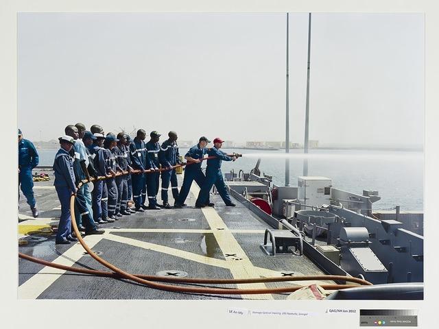, 'Damage Control Training, USS Nashville, Senegal,' 2009, Singapore Art Museum (SAM)