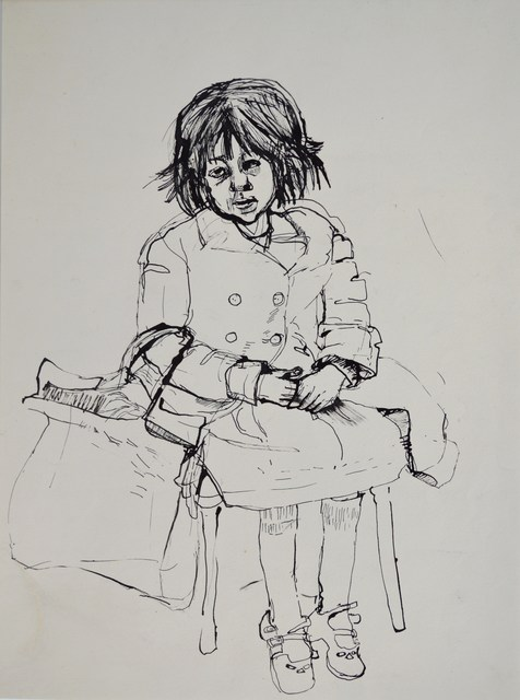 , 'Girl with Shopping Bag,' ca. 1959, The Scottish Gallery