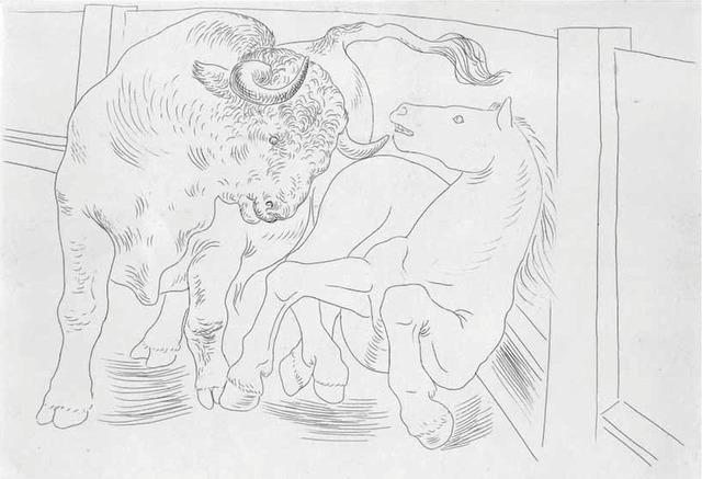 , 'Taureau et Cheval dans l'Arène,' 1929, John Szoke