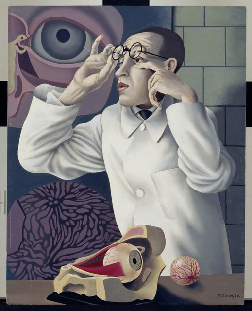 , 'Self-Portrait with Opthalmological Models (Selbstbildnis mit Opthamologischen Lehrmodellen),' 1928-1930, Los Angeles County Museum of Art