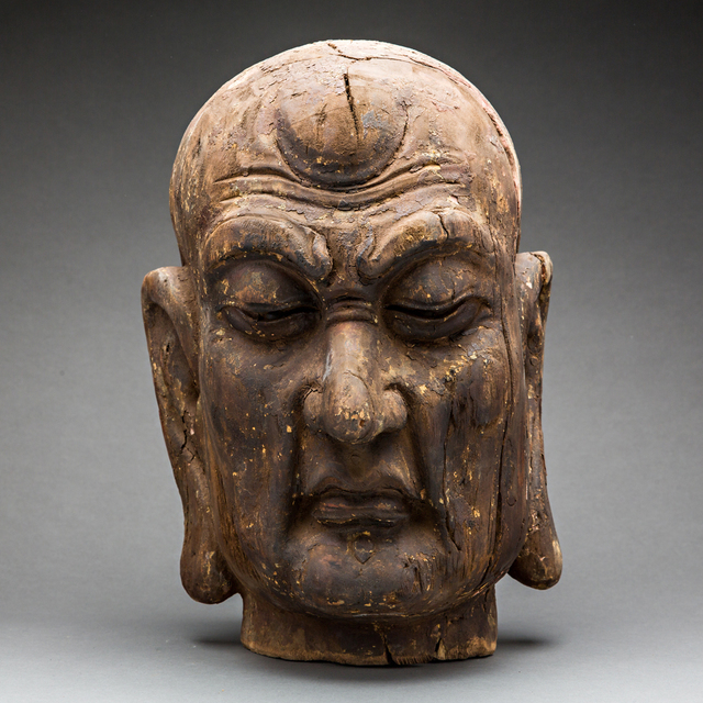 Unknown Chinese, 'Wood Head of a Lohan', 15th Century AD to 16th Century AD, Barakat Gallery