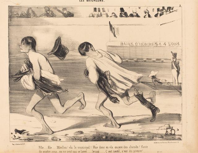 Honoré Daumier, 'File...Moello! Vla le municipal!', 1839, National Gallery of Art, Washington, D.C.