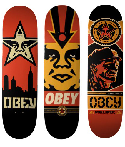 Shepard Fairey, 'Skateboard set of 3', ca. 2015, EHC Fine Art
