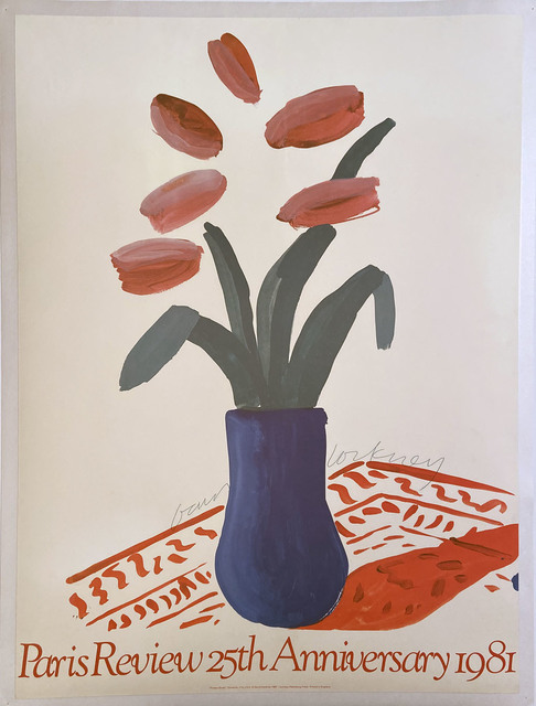 David Hockney, 'Paris Review 25th Anniversary 1981', 1981, Posters, High Quality Lithographic Poster on Nice Paper, David Lawrence Gallery