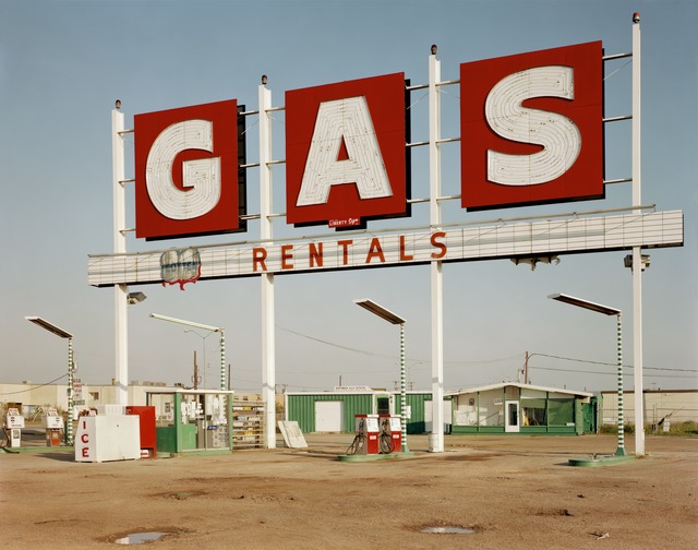 Jim Dow, 'Sign for Gas Station, Henry Hines Blvd., US 77, Dallas, Texas', 1979, Robert Klein Gallery