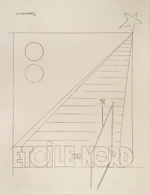 , 'Etoile Du Nord - Original Drawing ,' 1927, Omnibus Gallery