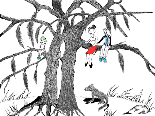 Gerald Wiggins, 'Untitled (People Sitting in a Tree)', 2015, Creativity Explored