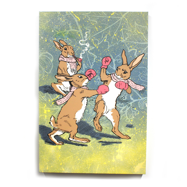, 'Fighting Bunnies,' 2018, Station 16 Gallery