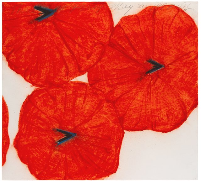 Donald Sultan, 'Three Red Flowers, May 20, 1997', 1997, Hindman