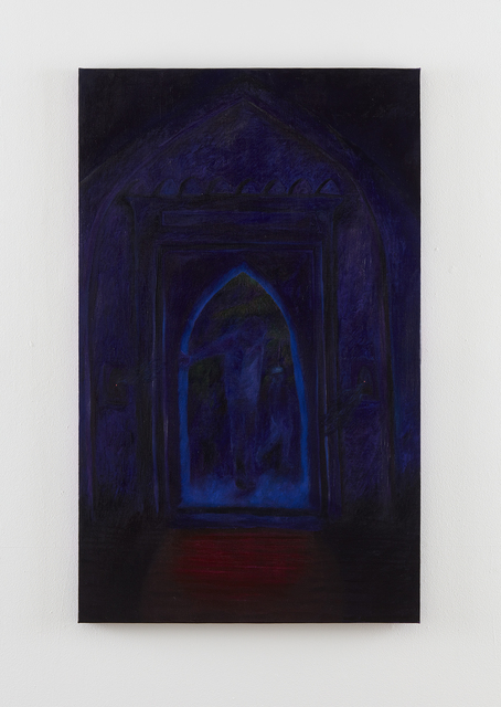 , 'Dad entering my great great grandfather Asgar's mosque,' 2016, Klowden Mann