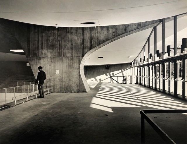Pedro E. Guerrero, 'Yale Skating Rink, Entrance Interior, New Haven, CT (Eero Saarinen, Architect)', 1958, Edward Cella Art and Architecture
