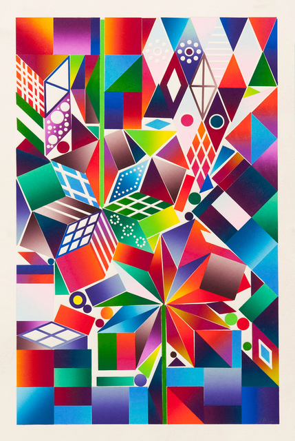 Polly Apfelbaum, 'Atomic Mystic Portrait 10', 2016, Richard Levy Gallery