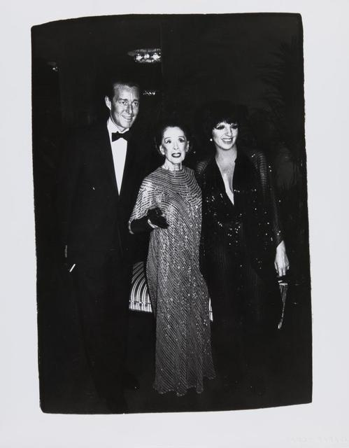 Andy Warhol, 'Andy Warhol, Photograph of Halston, Martha Graham, and Liza Minnelli, 1981', 1981, Hedges Projects