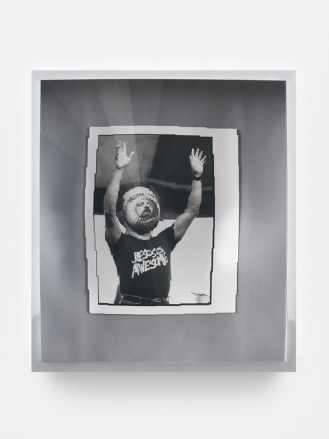 , 'Towards Universal Pattern Recognition (Claude Missmer of Whitehall raises his arms during a song. 8/21/89),' 2016, KÖNIG GALERIE