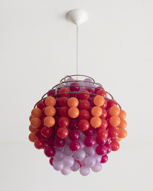 ", '""Fun"" chandelier,  ""Type H,"" in metal and plastic.,' 1970-1979, R & Company"