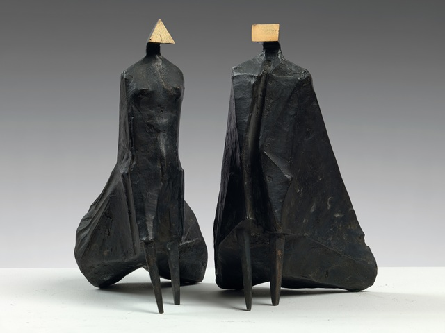 , 'Walking Cloaked Figures II,' 1978, Osborne Samuel
