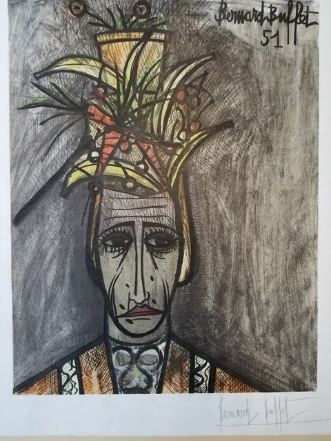 Groovy Bernard Buffet Le Travesti Hand Signed Numbered 1951 Available For Sale Artsy Home Interior And Landscaping Ferensignezvosmurscom