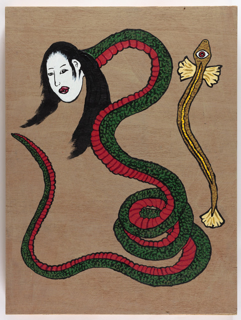 Yukari Sakura, 'The Nure-Ouna with a Golden One-Eyed Eel', 2017, Painting, Acrylic on wood panel, Creativity Explored