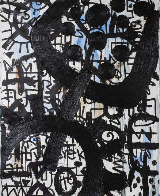 Victor Ekpuk, 'Composition in Black 2 ', 2019, Aicon Gallery
