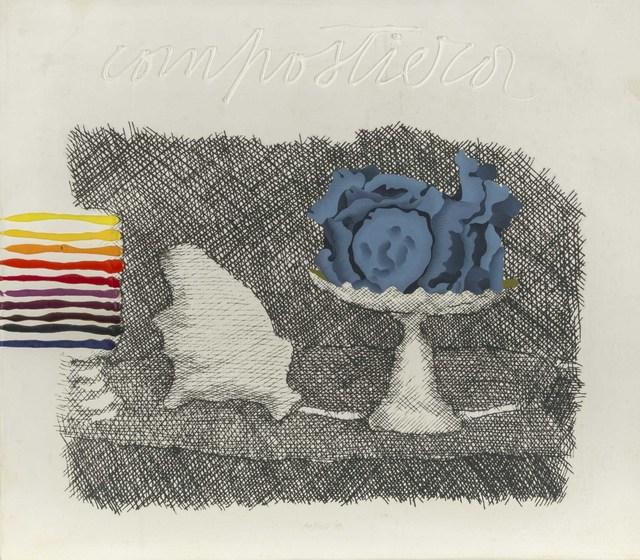 Concetto Pozzati, 'Piccola Compostiera (da e per Morandi) from the 'Restaurazione' series', 1973, ArtRite