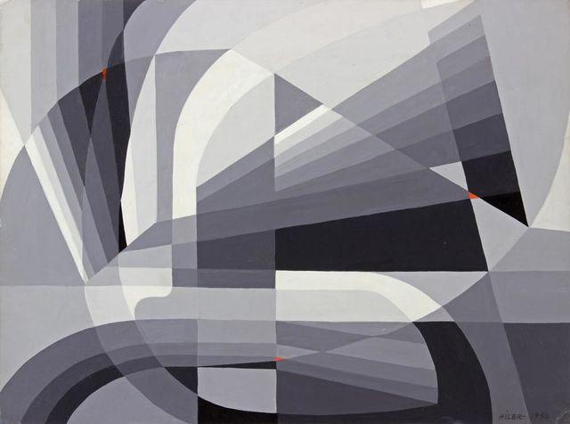 Hilaire Hiler, 'Gray Shadow-Series Run ', 1957, Addison Rowe Gallery