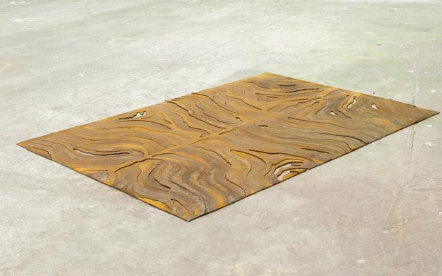 , 'Metal Rug (Rorschach Zebra) ,' 2014, KINMAN
