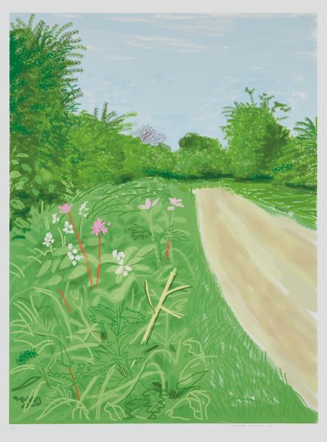 David Hockney, 'The Arrival of Spring in Woldgate, East Yorkshire in 2011, April 26, 2011', 2011, Phillips