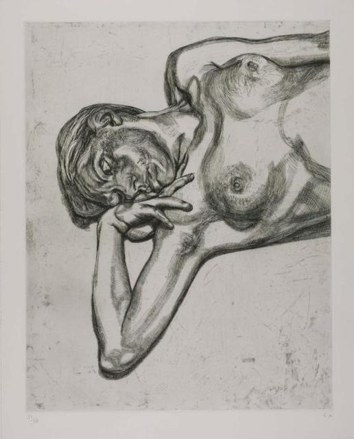 Lucian Freud, 'Head and Shoulders of a Girl', 1990, Print, Etching, Redfern Gallery Ltd.