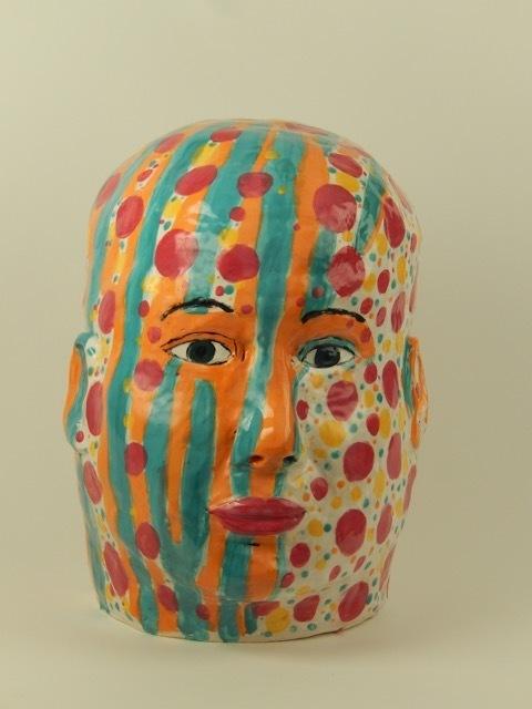 , 'Patterned Head,' 2018, bG Gallery