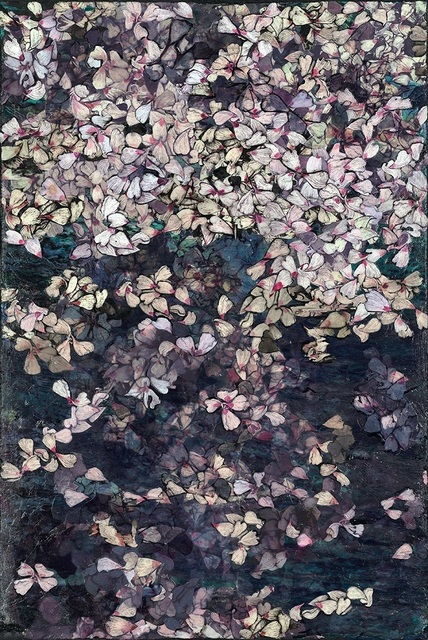 Rosemary Feit Covey, 'Blossoms (triptych)', 2021, Painting, Mixed media and experimental printmaking on canvas, Morton Fine Art