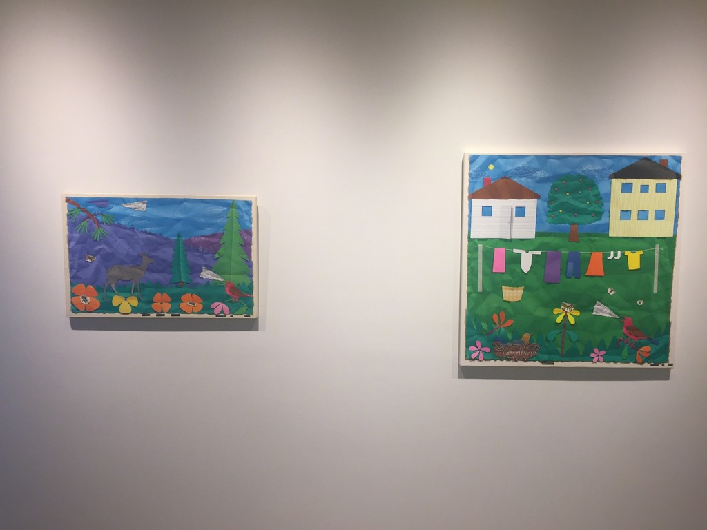 Bill Braun's paintings in an auxiliary gallery.