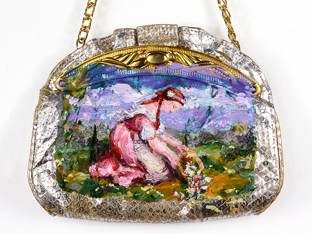 , 'Flower Basket Lady Purse (after Marie Ellenrieder),' 2017, Fisher Parrish Gallery