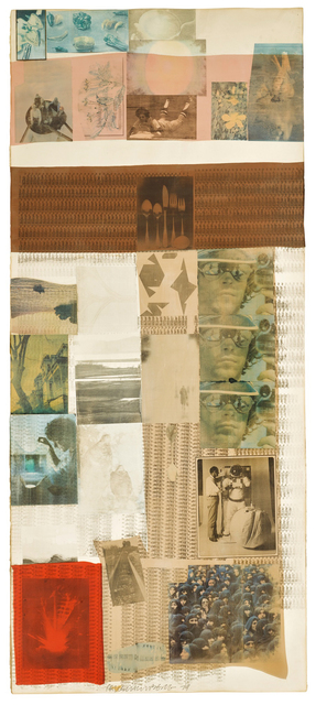 Robert Rauschenberg, 'Rose Clay', 1979, Drawing, Collage or other Work on Paper, Solvent transfer and fabric collage on paper, Sotheby's: Contemporary Art Day Auction