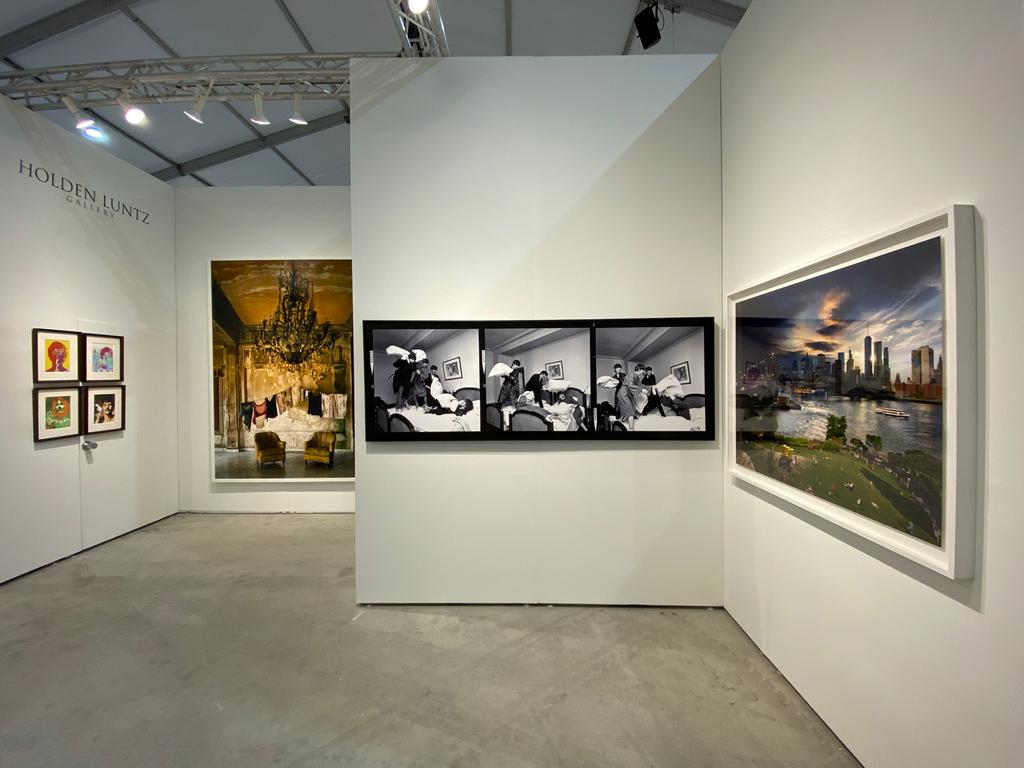 Left to right: Richard Avedon, The Beatles, London, 1967; Michael Eastman, Isabella's Two Chairs, Havana, 2000; Harry Benson, The Beatles - Pillow Fight x3, 1964; Stephen Wilkes, Brooklyn Bridge, Day to Night, 2016