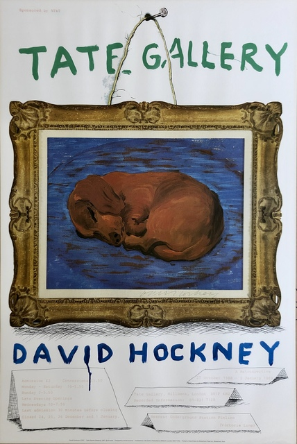 David Hockney, 'Hand Signed TATE Retrospective ', 1987, Mr & Mrs Clark's