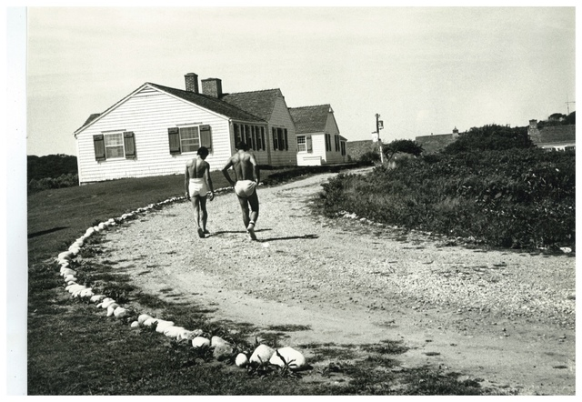 , 'Andy Warhol's Montauk Estate with Two Unidentified Men,' ca. 1975, Hedges Projects