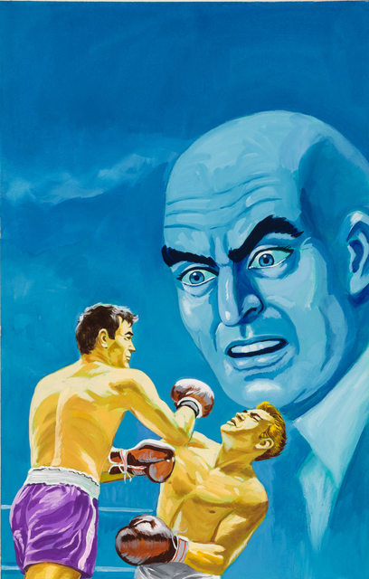 'Untitled (Boxing match with blue man)', c. 1960-75, Ricco/Maresca Gallery