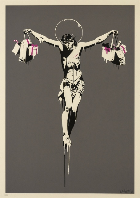 Banksy, 'Christ with Shopping Bags', 2004, Forum Auctions