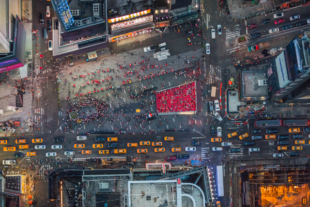 , 'Looking down on Times Square in NYC on a summer evening.,' 2014, Anastasia Photo