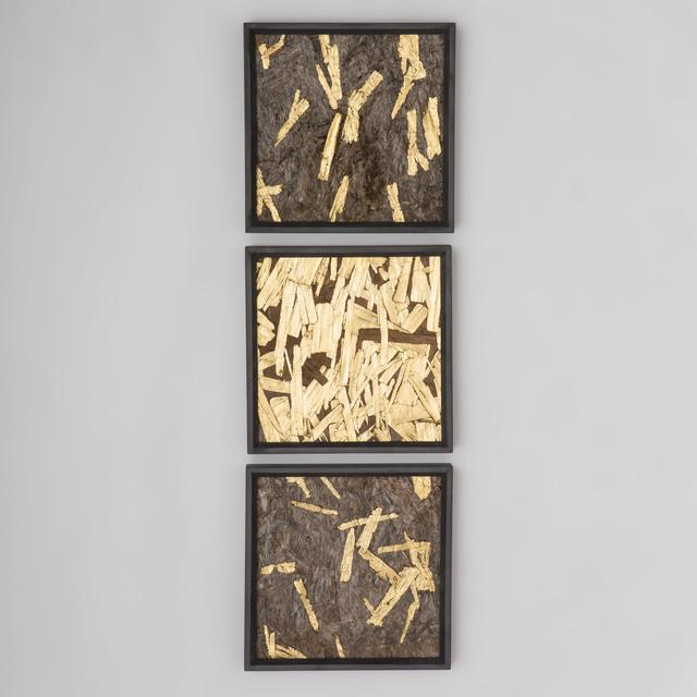 , 'Gold Leaf Triptych,' 2016, Todd Merrill Studio