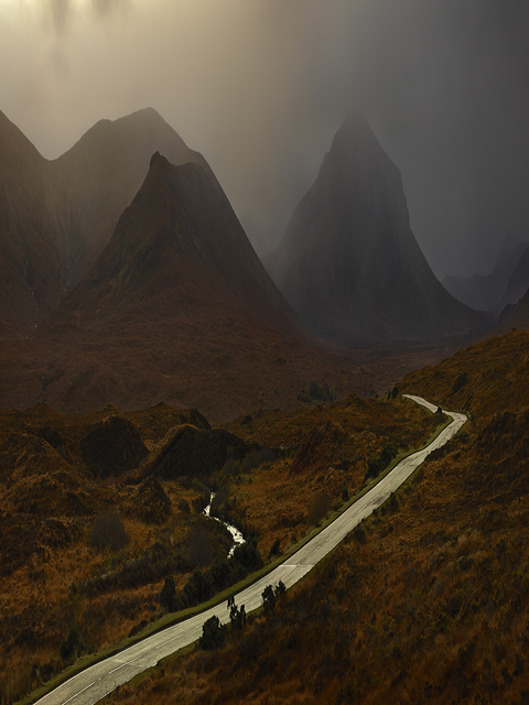 , 'Red Cuillins Road, Isle of Skye,' 2013, Opiom Gallery